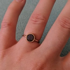 ROSE GOLD bezel set amethyst ring